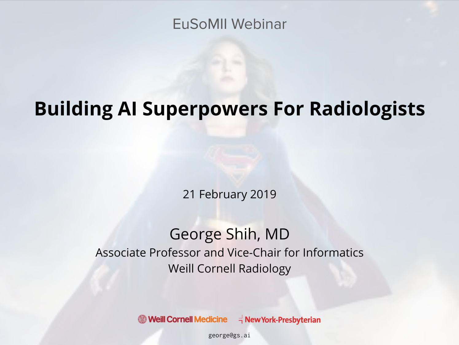 WEBINAR 'Building AI Superpowers For Radiologists' by George Shih